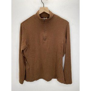 REI Long Sleeve Solid Sweater Brown Size X-Large